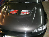 foliendesign carbon look opel vectra 03
