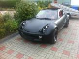 Foliendesign Barnim Vollverklebung Creative Design Smart Roadster schwarz matt