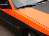 foliendesign vollverklebung 3er bmw compact schwarz orange matt 07