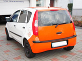vollverklebung mitsubishi colt schwarz orange weiss oracal 970 07
